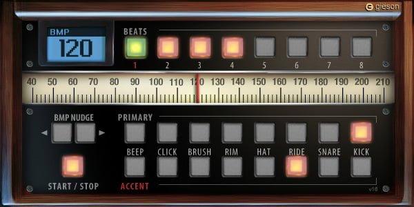 無料オンラインメトロノーム Drom Metronome