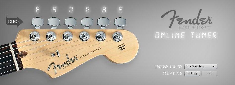 Fenderのオンラインギターチューナー
