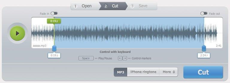 無料オンラインMP3カットアプリ Online MP3 Cutter