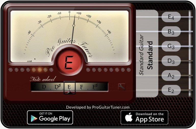 無料オンラインチューナー Pro Guitar Tuner