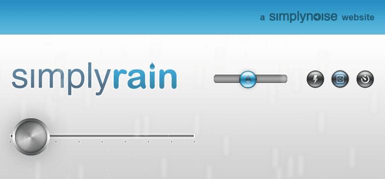 無料オンライン雨音ジェネレーター SimplyRain