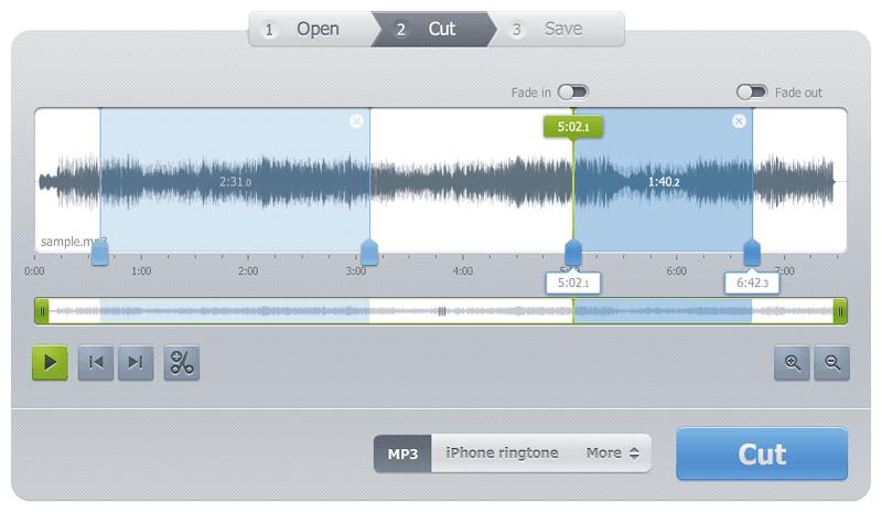 MP3をカットできる無料オンラインアプリ Online Audio Cutter PRO