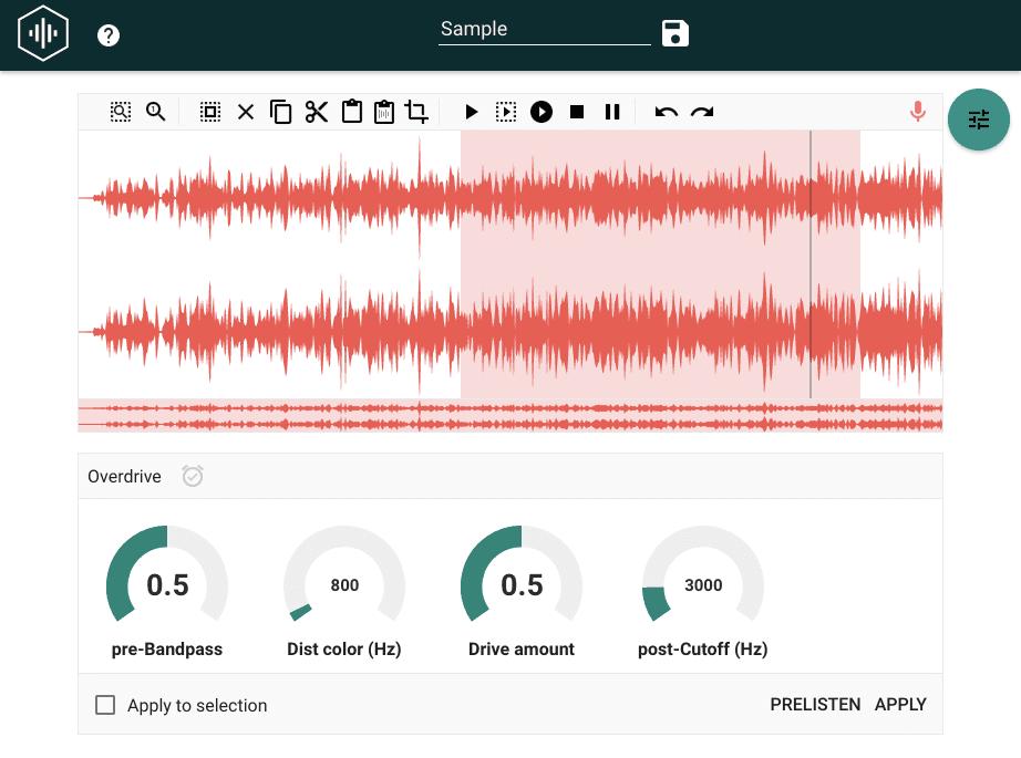 無料オンラインMP3/WAV編集ソフト&レコーダー HYA-WAVE