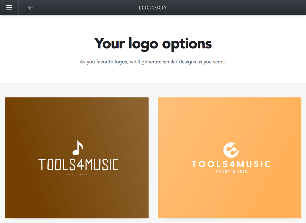 AIロゴジェネレーター Logojoy