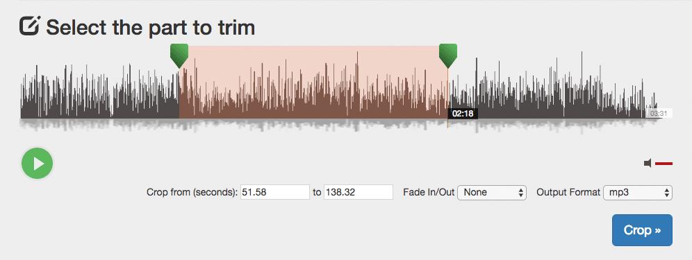MP3/WAVのカット/トリミング Audio Trimmer