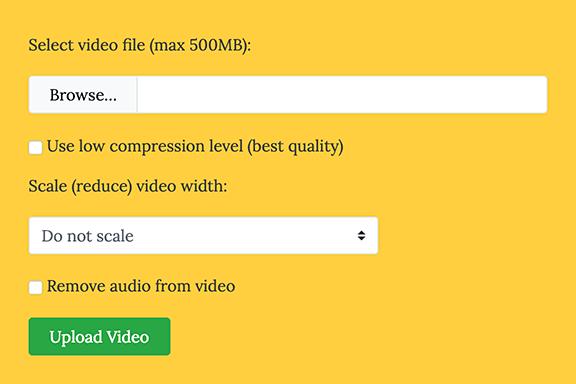 オンラインで動画ファイル(MP4、MPEG、AVI、MOV)を圧縮