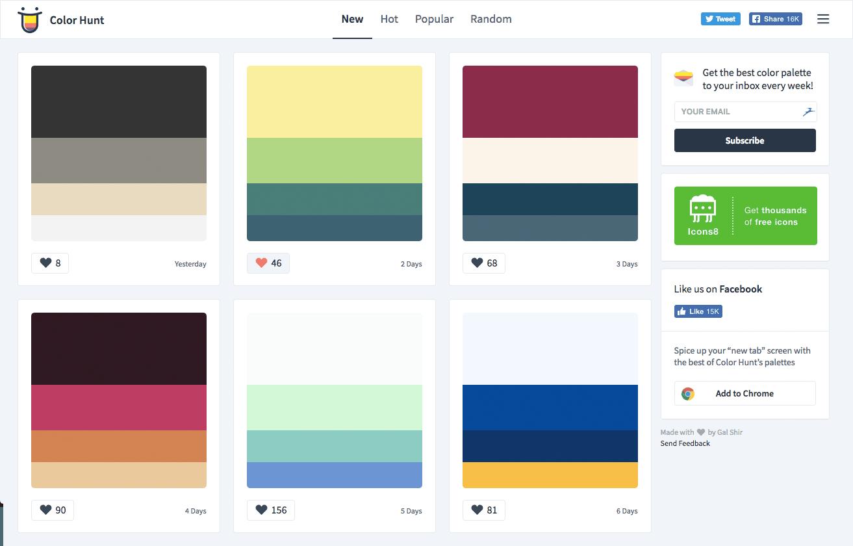 オンラインカラーパレット Color Hunt