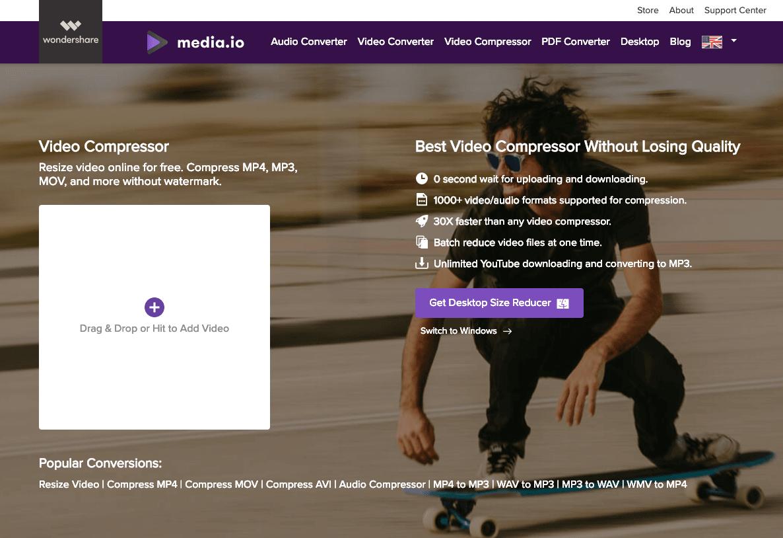 オンラインで動画(MP4,MOV,AVI...)を圧縮できる無料アプリ