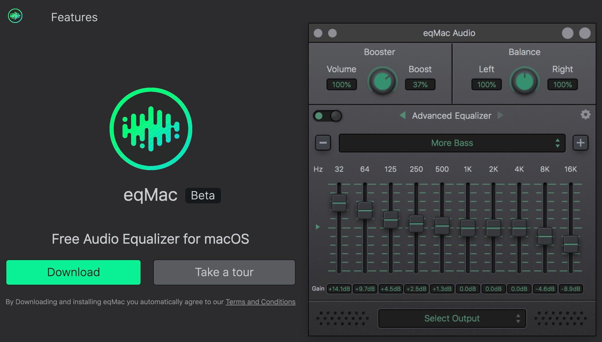 Mac向けイコライザー eqMac 最新版